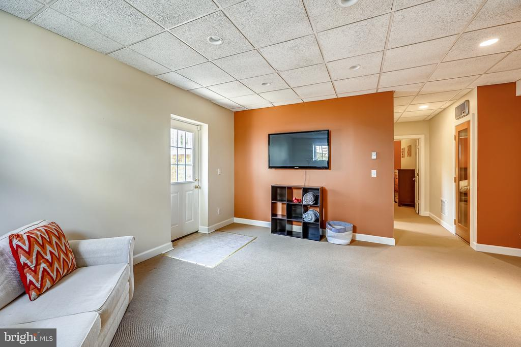 Lower level-new wall mounted TV conveys - 3417 HIDDEN RIVER VIEW RD, ANNAPOLIS