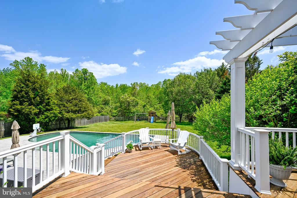 Ipe Deck leading to pool - 3417 HIDDEN RIVER VIEW RD, ANNAPOLIS