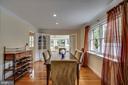 Dining room: built in china hutch, custom drapes - 5824 BRADLEY BLVD, BETHESDA