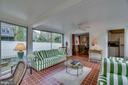Sunroom: brings the outside in - 5824 BRADLEY BLVD, BETHESDA