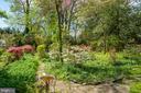 The extended backyard gardens, a peaceful oasis - 5824 BRADLEY BLVD, BETHESDA