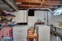 Lower level laundry area - 5824 BRADLEY BLVD, BETHESDA