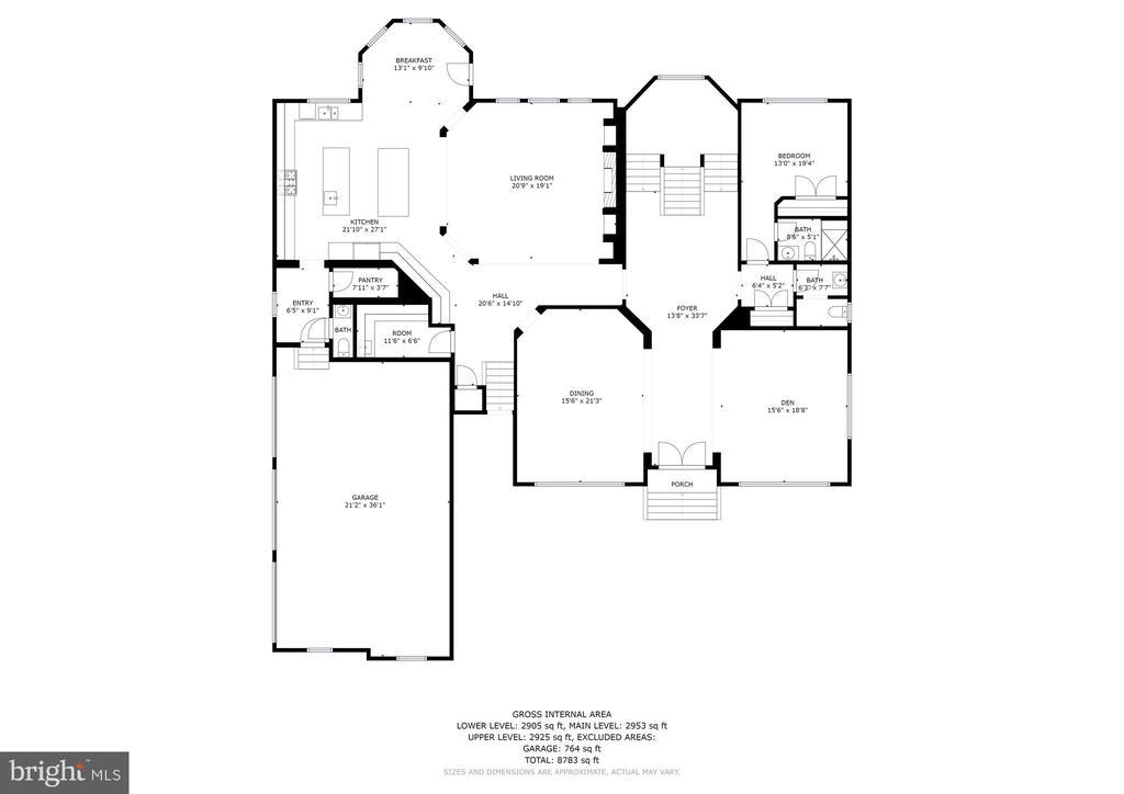 Main Level Floor Plan - 13029 HIGHGROVE RD, HIGHLAND