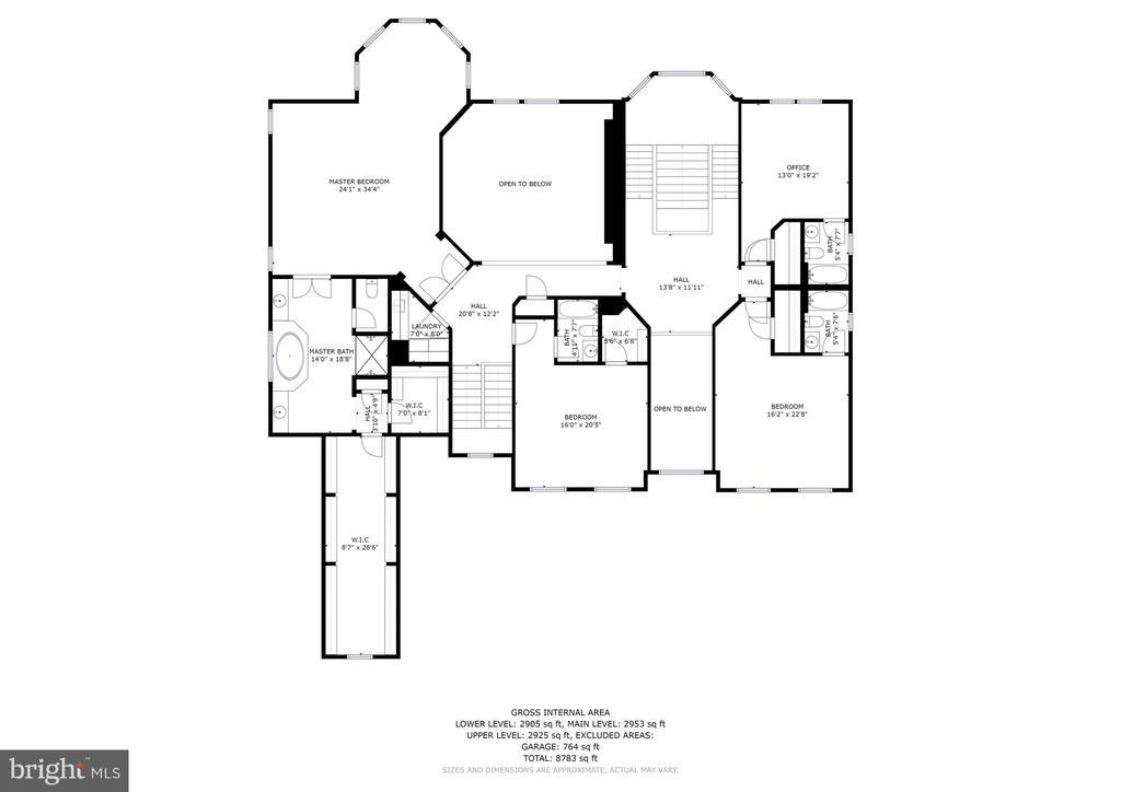 Upper Level Floor Plan - 13029 HIGHGROVE RD, HIGHLAND