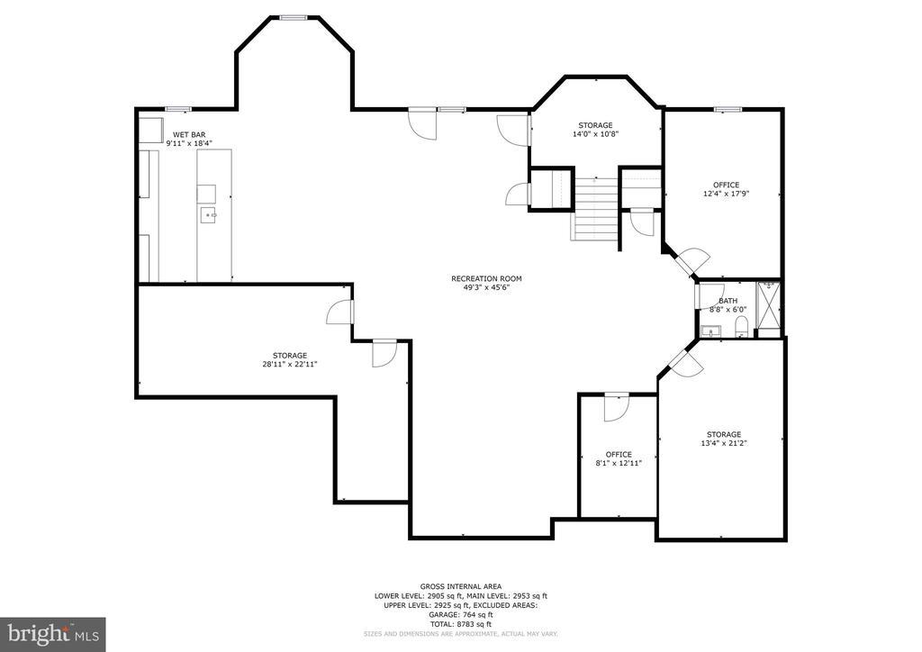 Lower Level Floor Plan - 13029 HIGHGROVE RD, HIGHLAND