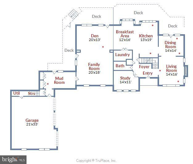 Main Level Floor Plan - 236 MOUNTAIN LAUREL LN, ANNAPOLIS