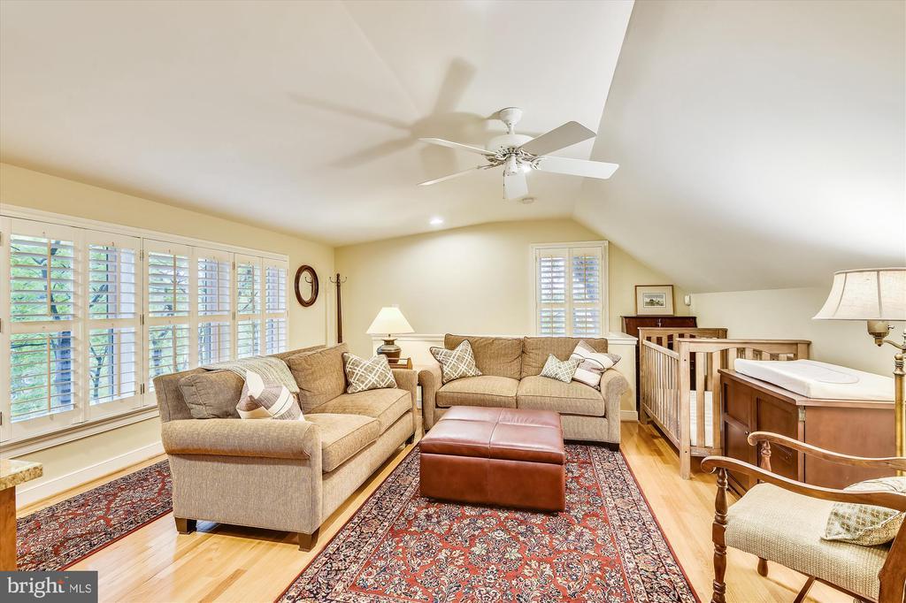 Au pair suite, lounging area w/ ceiling fan - 236 MOUNTAIN LAUREL LN, ANNAPOLIS