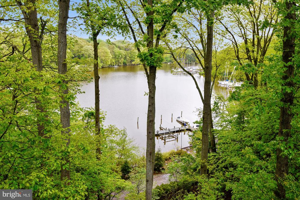 View from deck - 236 MOUNTAIN LAUREL LN, ANNAPOLIS