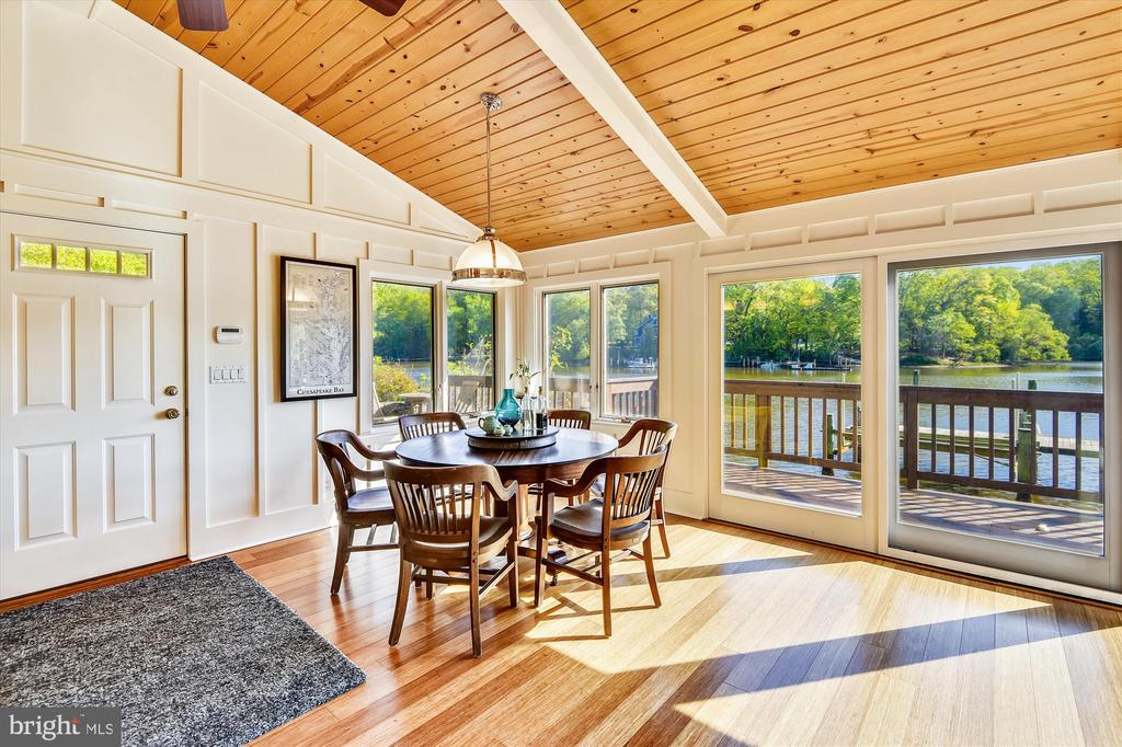 Enjoy the incredible views!  Knotty pine ceiling - 236 MOUNTAIN LAUREL LN, ANNAPOLIS