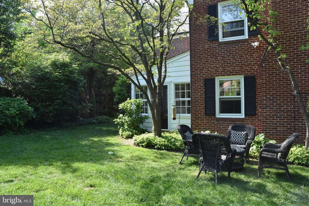 Back yard opening from Sun Room - 7600 GLENDALE RD, CHEVY CHASE
