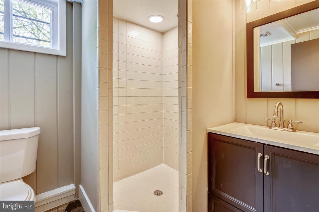 Updated Lower Level Full Bathroom - 1128 CRESTHAVEN DR, SILVER SPRING