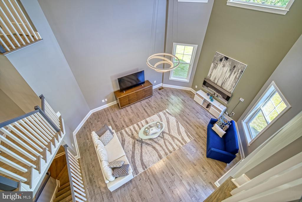 Two Story Family Room from Upper Level Landing - 1349 GORDON LN, MCLEAN