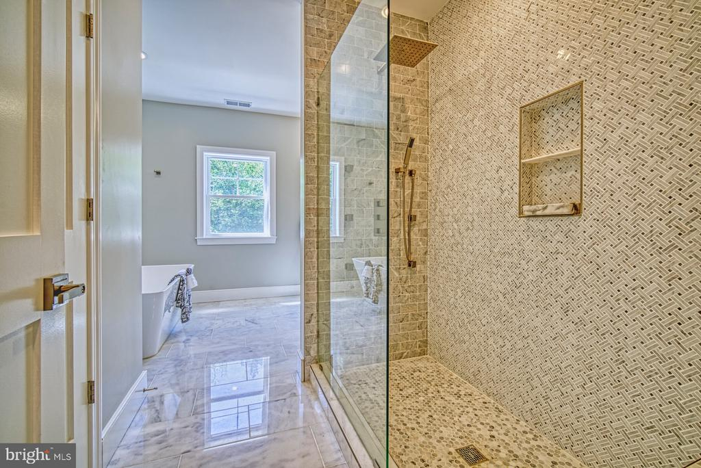 Luxury Spa Shower Experience - 1349 GORDON LN, MCLEAN