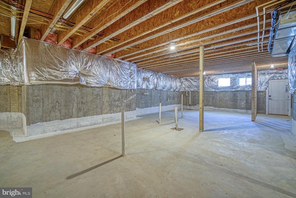Basement roughed-in for Bath, Bedroom, Living Area - 1349 GORDON LN, MCLEAN
