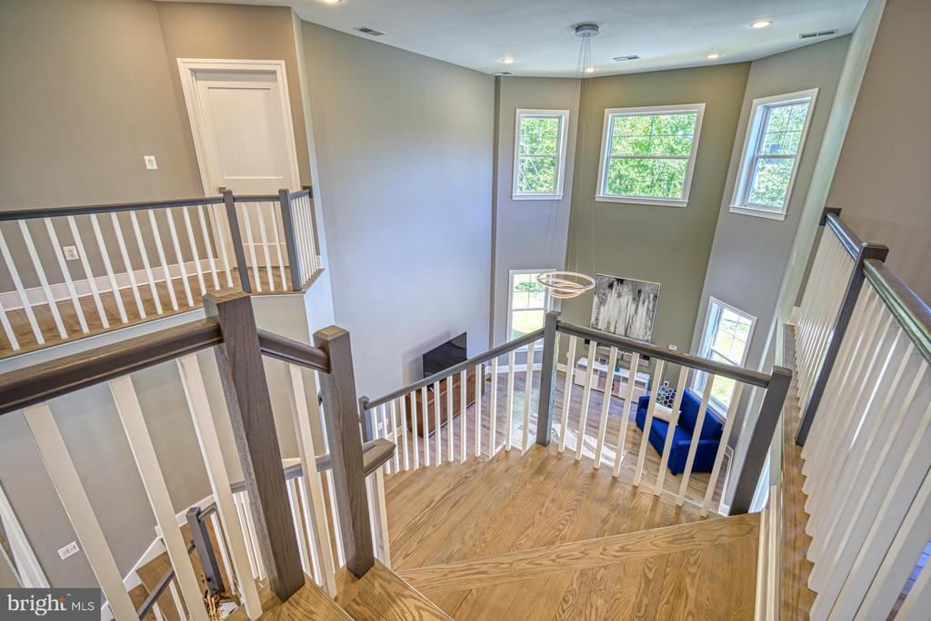 Stairs -Note Hardwood Floors on Main & Upper Level - 1349 GORDON LN, MCLEAN