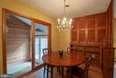 dining area at end of liv rm/ next to breezeway - 449 POPLAR LN, ANNAPOLIS