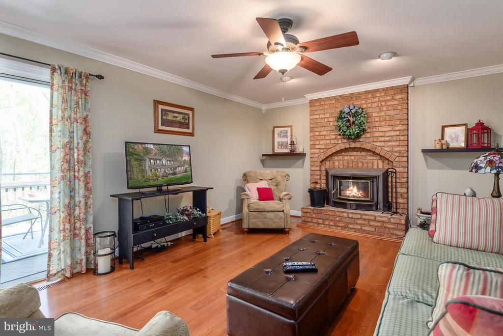 Family room with access to top deck. - 325 SANDY RIDGE RD, FREDERICKSBURG