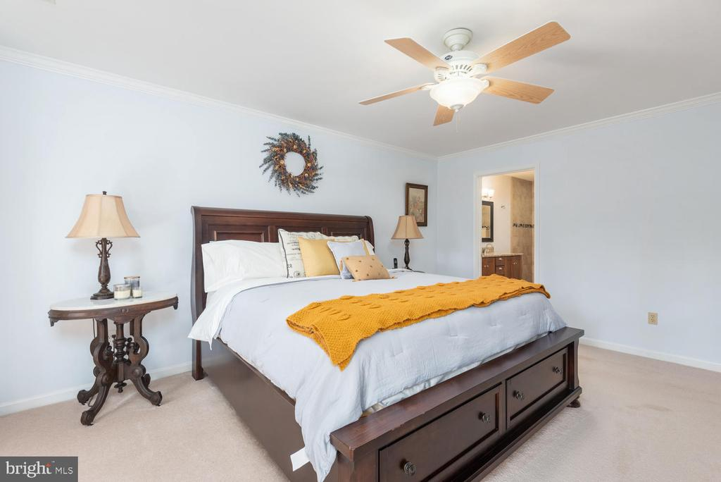Master bedroom has space for California King! - 325 SANDY RIDGE RD, FREDERICKSBURG