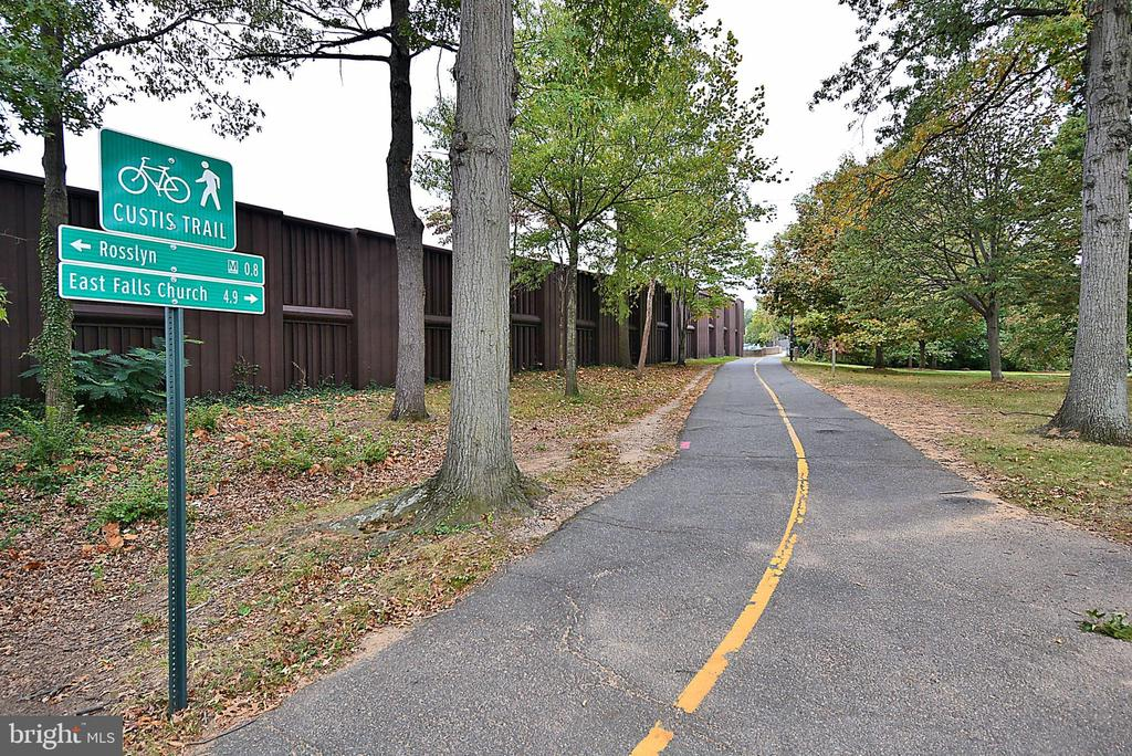 Custis trail for all types of exercise! - 705 N BARTON ST, ARLINGTON