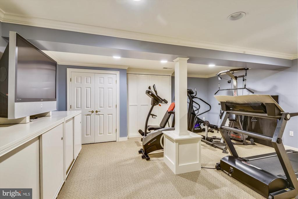 Exercise room w/ Murphy bed & radon mit. system. - 236 MOUNTAIN LAUREL LN, ANNAPOLIS