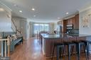 Large kitchen and dining room. - 214 WOODSTREAM BLVD, STAFFORD