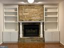 Beautiful wood burning fireplace with built-ins. - 1401 HUNTING WOOD RD, ANNAPOLIS