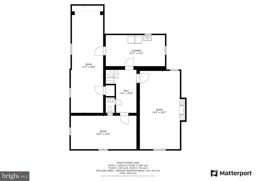 Basement Floor Plan - 304 UPPER COLLEGE TER, FREDERICK
