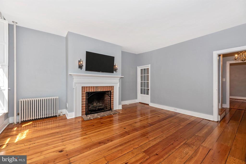 Spacious living room with  gorgeous wood floors! - 137 W 3RD ST, FREDERICK