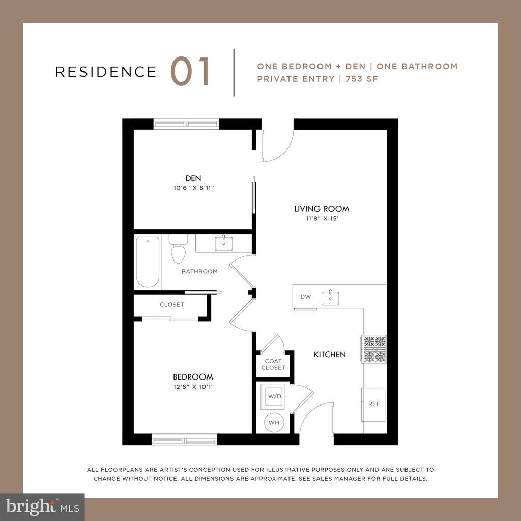 Residence 1 Floorplan - 1434 CHAPIN ST NW #1, WASHINGTON