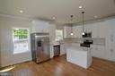 Kitchen with an island - 5509 C ST SE, WASHINGTON
