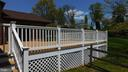 Deck is trex and vinyl Pickets and rails - 7839 RIDGE RD, FREDERICK