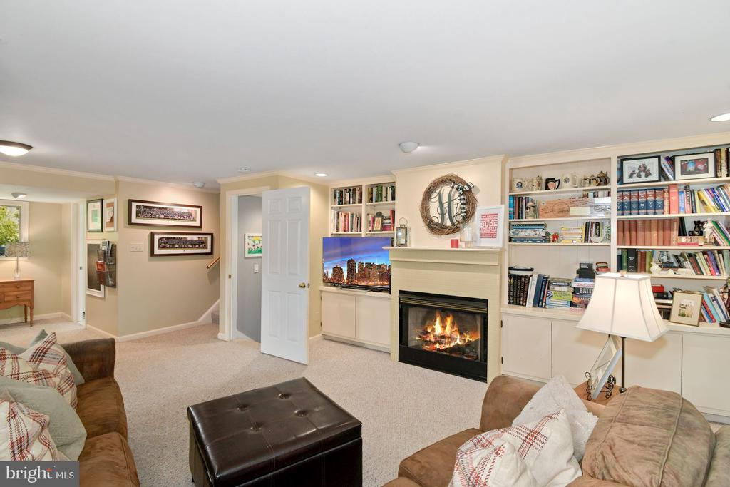 Family room with gas fireplace - 1065 PALMER PL, ALEXANDRIA