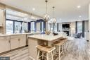 Open kitchen with large island option - 2009 GAILS LN, MOUNT AIRY