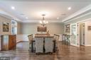 Embassy size Dining Room with detailed trim - 5400 LIGHTNING DR, HAYMARKET