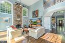 Two-story family room and stone fireplace - 5400 LIGHTNING DR, HAYMARKET
