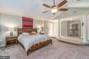 Master Suite with cathedral ceilings - 5400 LIGHTNING DR, HAYMARKET