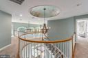 Rounded banister and custom painted dome - 5400 LIGHTNING DR, HAYMARKET