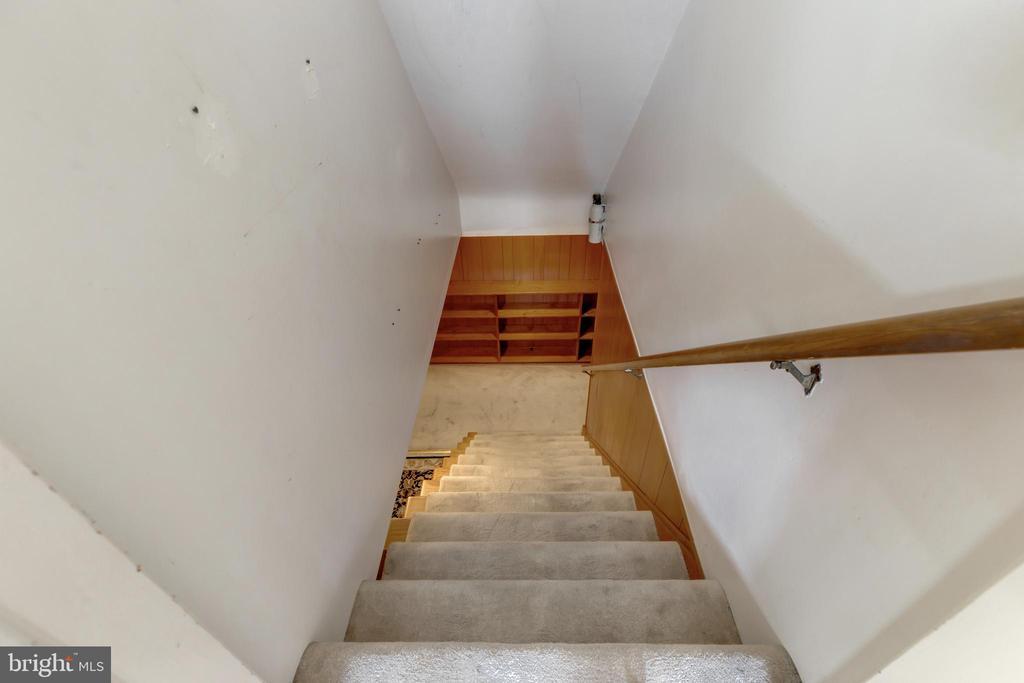 Heading to the basement. - 2401 N VERNON ST, ARLINGTON