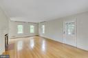 Side door off living room leads to sunroom. - 2401 N VERNON ST, ARLINGTON