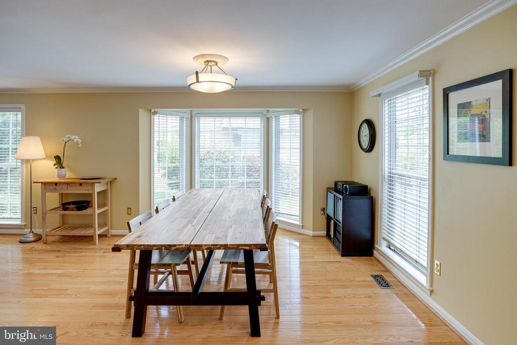 Dining Area with Gleaming Hardwood Floors - 1542 DEER POINT WAY, RESTON