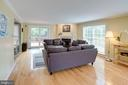 Living Room with Gleaming Hardwood Floors - 1542 DEER POINT WAY, RESTON
