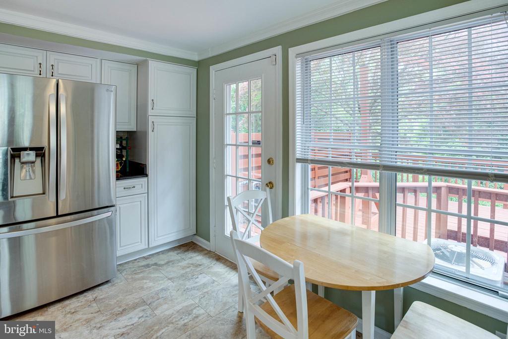 Kitchen with Door Leading to Deck - 1542 DEER POINT WAY, RESTON