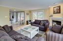 Living Room w/ Sliding Glass Door Leading to Deck - 1542 DEER POINT WAY, RESTON