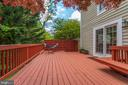 Deck with Built-In Seating - 1542 DEER POINT WAY, RESTON