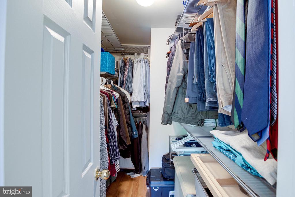 Master Bedroom Closet with Custom Built-Ins - 1542 DEER POINT WAY, RESTON