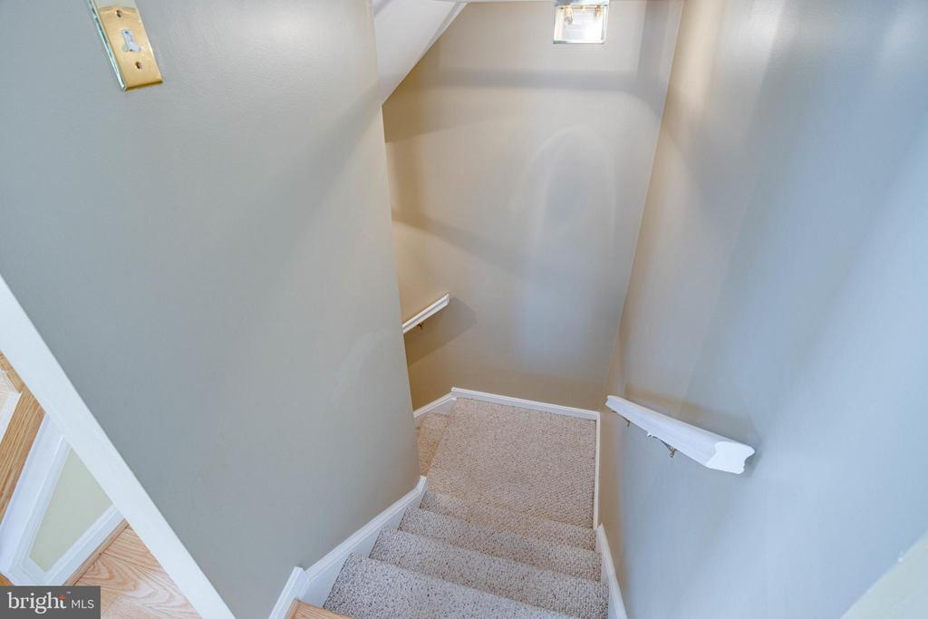 Stairs to Lower Level - 1542 DEER POINT WAY, RESTON