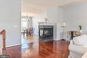 From living into Dining & fireplace - 22944 ROSE QUARTZ SQ, BRAMBLETON