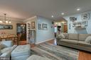 Family room/Dining room combo - 12153 STALLION CT, WOODBRIDGE