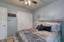 Bedroom 3 has custom built-in closet. - 12153 STALLION CT, WOODBRIDGE