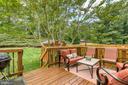 Great deck overlooking trees. - 12153 STALLION CT, WOODBRIDGE